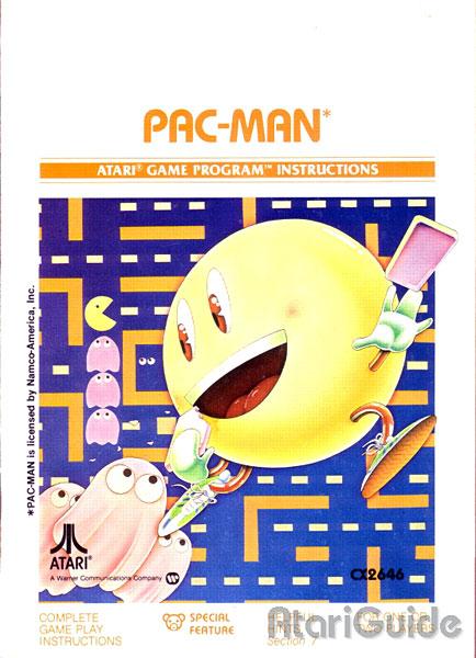 Pac-Man: Capa do Manual Original - Atari 2600 - AntonioBorba.com