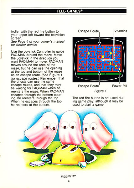 Pac-Man: Página do Manual Original - Atari 2600 - AntonioBorba.com