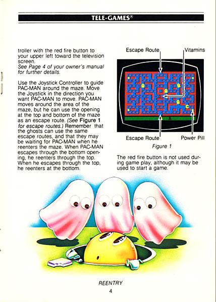 Pac-Man: Página do Manual Original - Atari 2600 - AntonioBorba.com