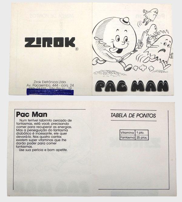 O Manual mais Resumido do Mundo - Pac-Man Atari 2600 da Marca Zirok - AntonioBorba.com