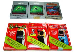 Jogos Atari Completos na Caixa: Marcas Data Age e Coleco