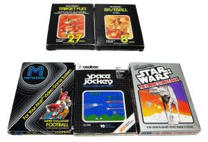 Jogos Atari Completos na Caixa: Parker Brothers, M-Network, US Games e Sears