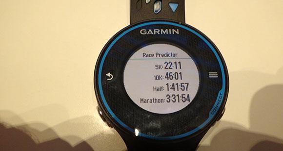 Garmin FR620 - Race Predictor - AntonioBorba.com