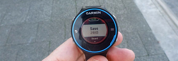 Garmin FR620 - Save Screen - AntonioBorba.com