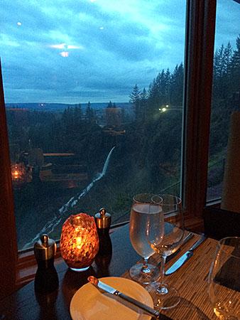 Um jantar para poucos no Salish Lodge. AntonioBorba.com