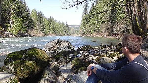 Vista para o Rio Snoqualmie - um belo lugar para descansar...