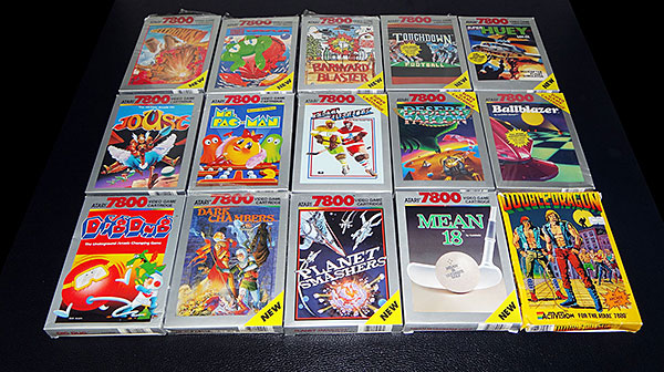 Atari 7800 - Jogos Completos Impecáveis - AntonioBorba.com