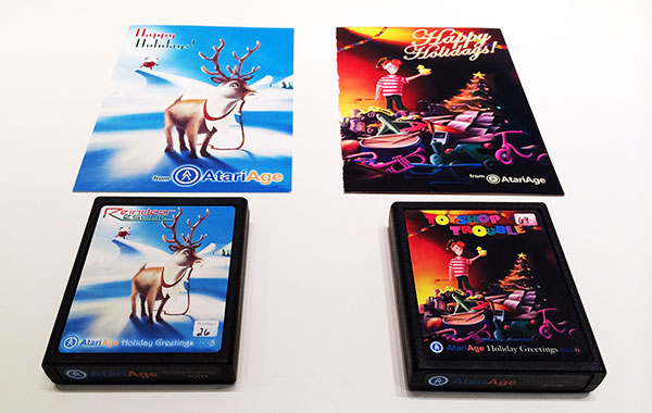 Raindeer Rescue e Toyshop Trouble - Homebrews Atari 2600 - AntonioBorba.com