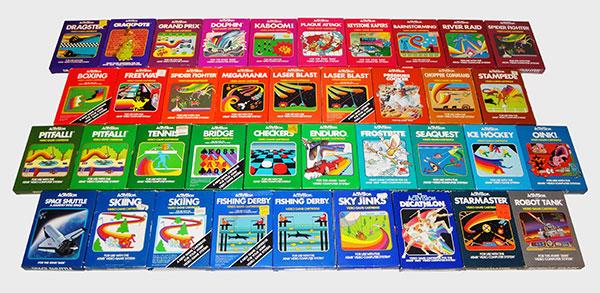 Atari Activision - Coleção Completa Standard Label - AntonioBorba.com