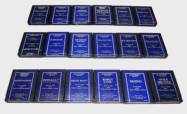 Atari Activision - Coleção Completa Blue Label - AntonioBorba.com