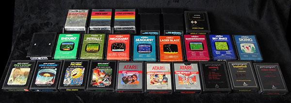 Atari Frente de Madeira - 25 Cartuchos - AntonioBorba.com
