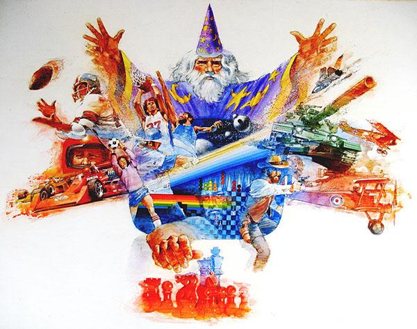 Mosaico de imagens de Cliff Spohn para o Atari 2600 - Antonio Borba