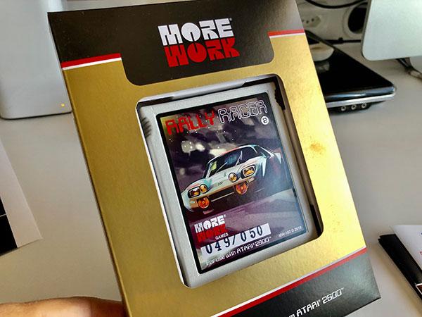 Rally Racer, jogo de Atari 2600 da More Work Games - AntonioBorba.com